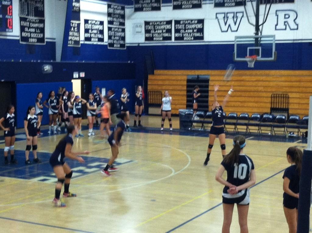 Girls%E2%80%99+Volleyball+Hits+Hard