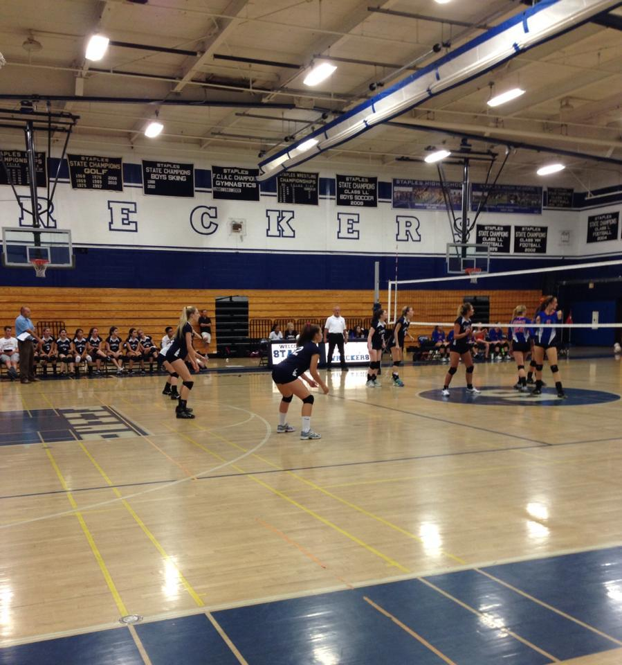 Girls' Volleyball Battles for a Win Against Danbury