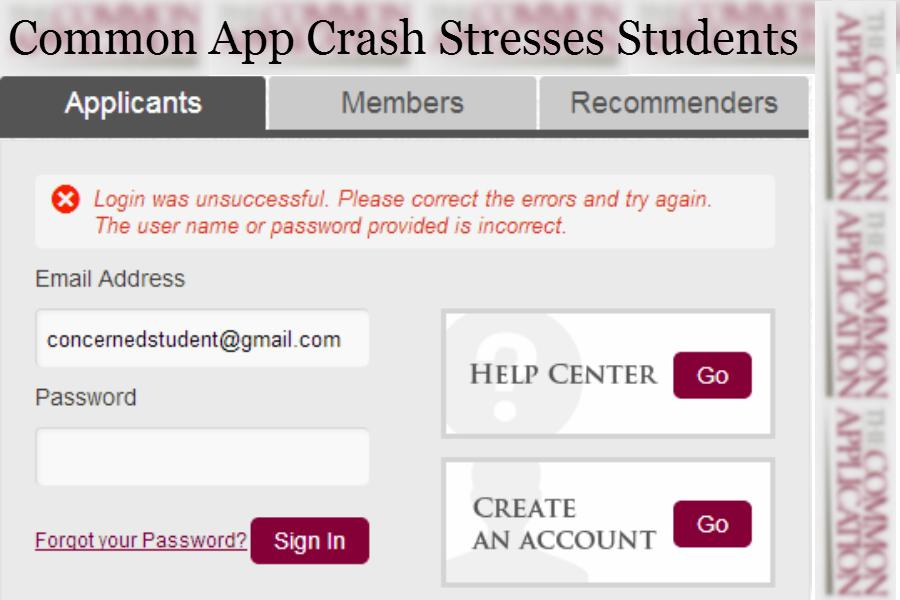 Common App Crash Stresses Out Students
