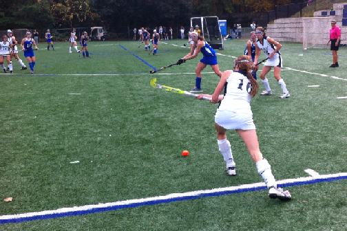Staples inbounds the ball in the first half of their game against Hall on Oct. 19.