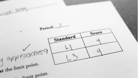 New Standards: Instead of an average, students are now given a numerical grade on the standard.