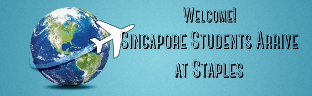 Singapore Exchange Students Arrive at Staples