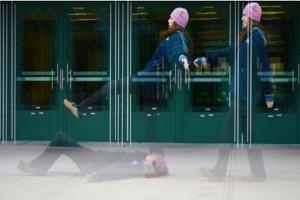 Ice endangers pedestrians on campus