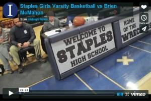 Girls Basketball dunks Brien McMahon