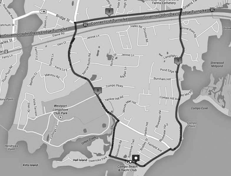 Running routes that run through Westport