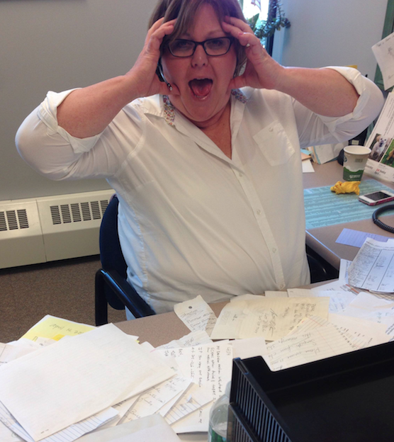Poor poor Patty, working through piles of absentee notes