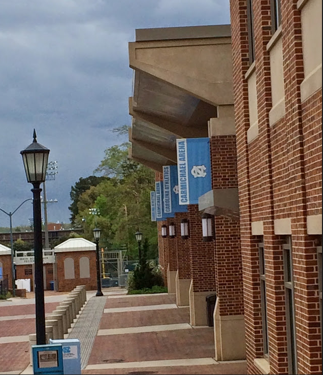 Dylan Donahue '15 enjoys the warm weather at UNC-Chapel Hill in North Carolina.
