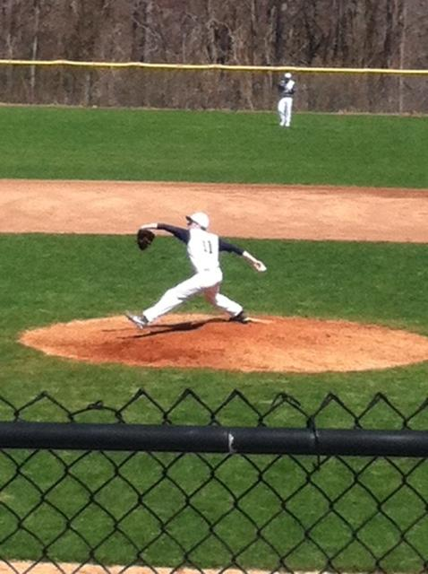 Rob Vallone'14 pitching for the Wreckers.