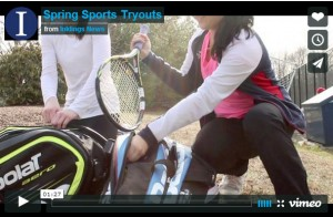 Athletes try out for spring sports