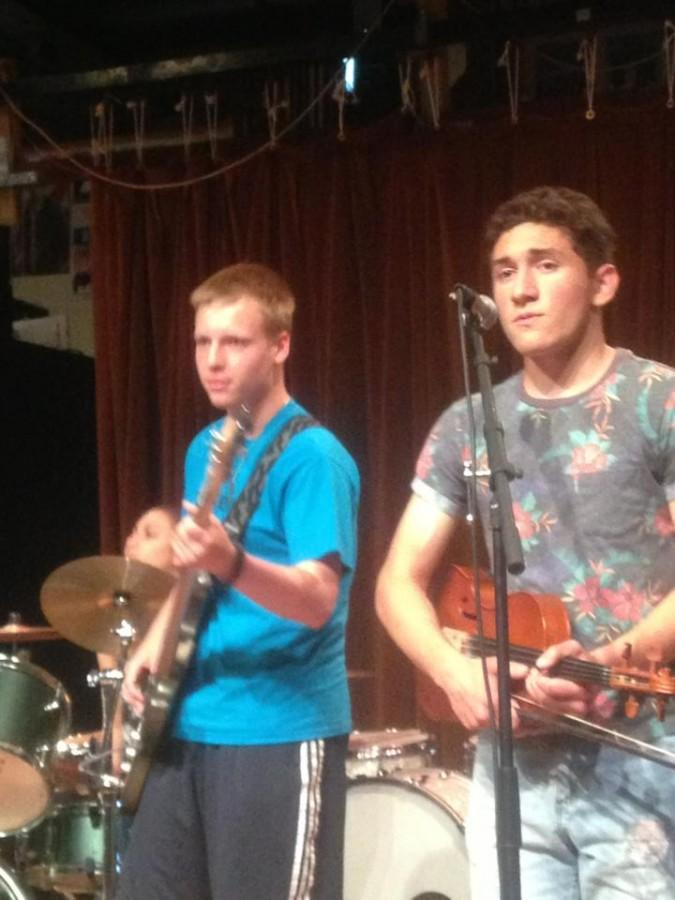 Svenson and Raigosa jam out at Toquet Hall on Saturday.