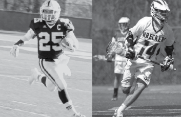 Two-sport captain Patrick Lesch '14 is a force for the Wreckers. Lesch led the football team in rushing yards and helped take the lacrosse team all the way to playoffs.
