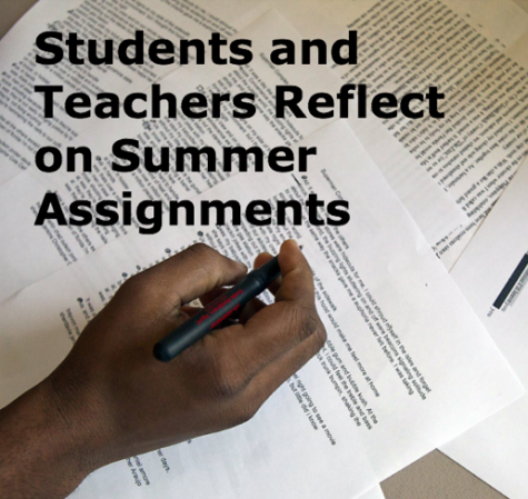 Students and teachers reflect on summer assignments