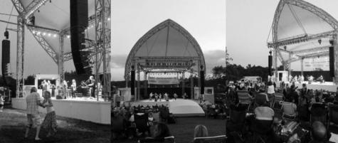 New Levitt Pavillion lights up large crowds