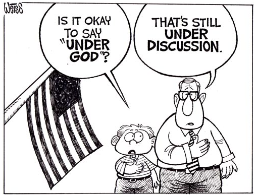 an analysis of the argument to remove the words under god in the pledge of allegiance according to g