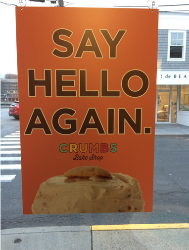 Crumbs celebrates it's return with lots of new goodies