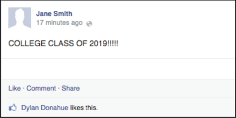 Never have I ever not liked a college Facebook post