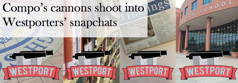 Compo's cannons shoot into Westporters' snapchats