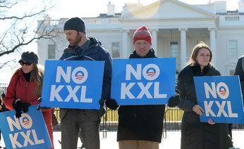 Hundreds of protesters have opposed the drilling of the Keystone XL pipeline. Photo courtesy of MCT Campus.