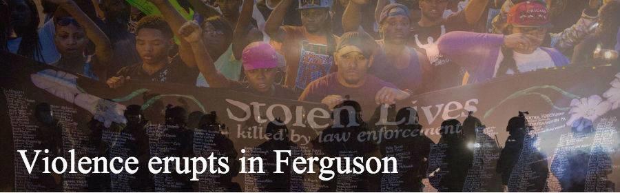 Violence+erupts+in+Ferguson