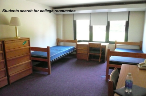 Finding roommates differs among colleges and students