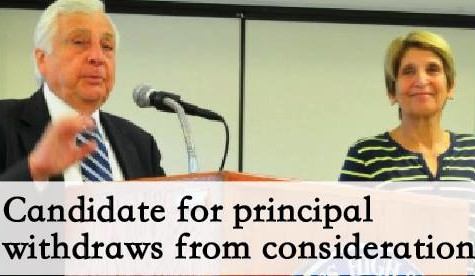 Candidate for Principal Withdraws from Consideration