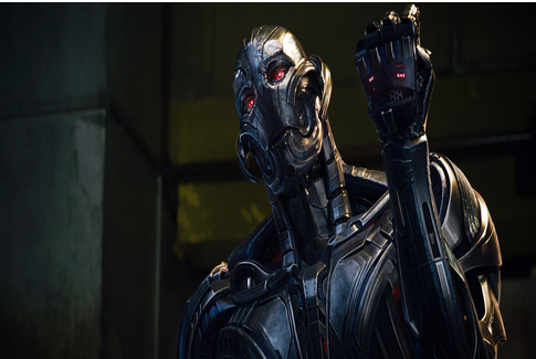 "James Spader as ""Ultron"" in a scene from ""Avengers: Age of Ultron."" Photo from MCT Campus"