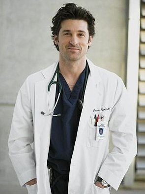 Derek Shepherd, played by Patrick Dempsey, was one of the main characters in Grey's Anatomy.