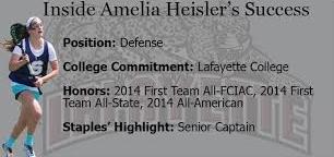 Amelia Heisler: Senior lacrosse standout provides spark to team