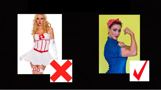 Reject revealing Halloween costumes