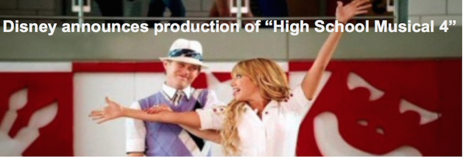 "The start of something new; Disney Channel surprises fans with ""High School Musical Four"" announcement"