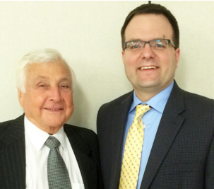 Dr. Elliot Landon (left) with the new principal, James D'Amico (right)