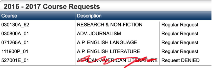African American Lit: The Staples elective that has yet to be elected