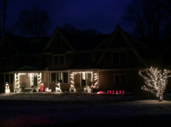 Local homes illuminated for holiday season