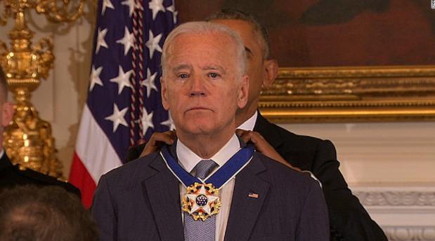 Emotional Biden awarded Presidential Medal of Freedom