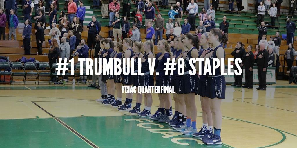 Girls' basketball drops FCIAC quarterfinal to Trumbull