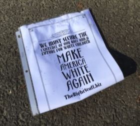 White supremacist fliers found in Norwalk