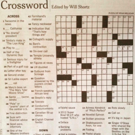 Staples graduate publishes a second original crossword puzzle in the New York Times