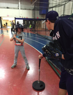 Sports teams bond with young athletes