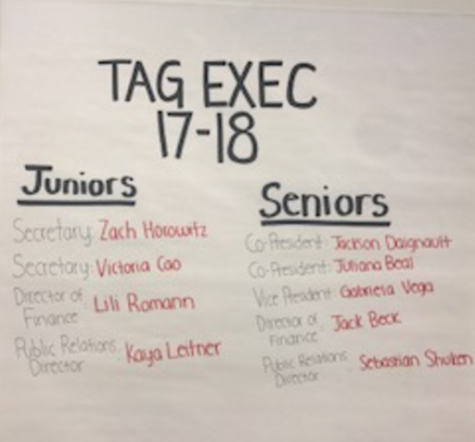 New T.A.G. leadership announced with the departure of the senior class