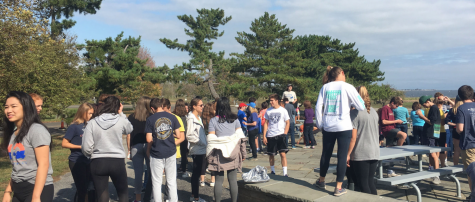 A.P. Environmental students work with the Connecticut Fund for the Environment at Sherwood Island State Park