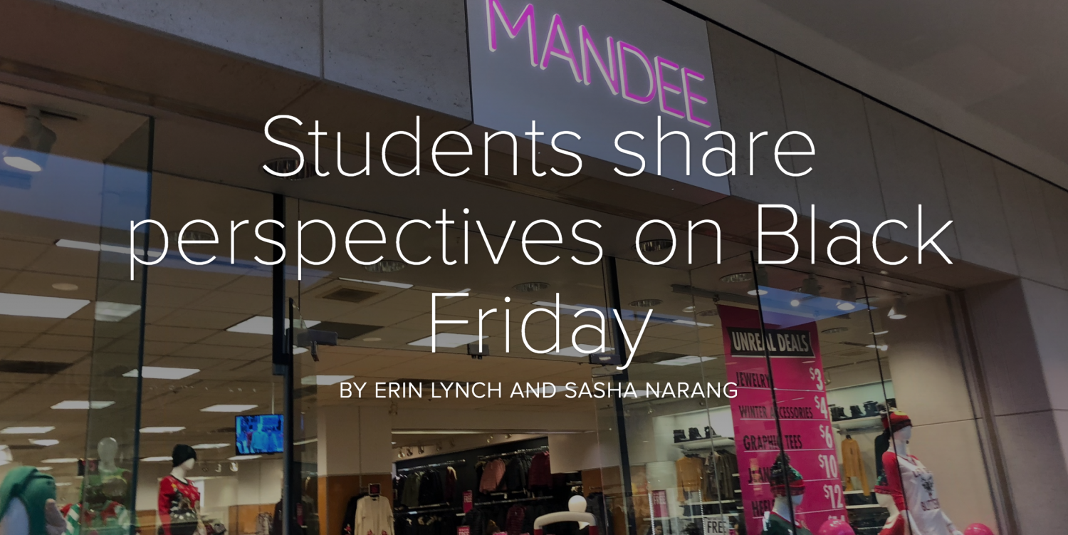 Students share perspectives on Black Friday