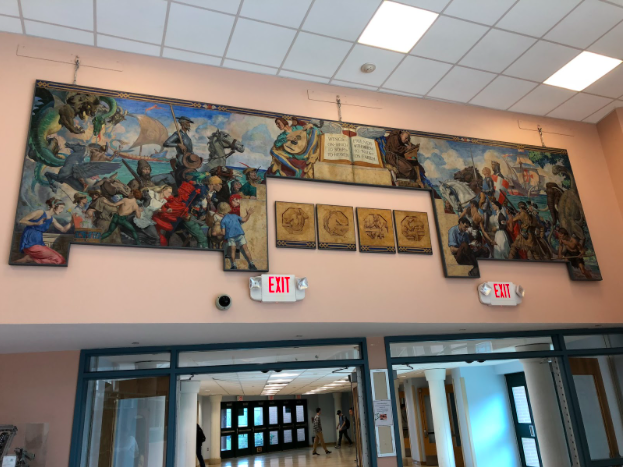 Classic mural finds a home at Staples
