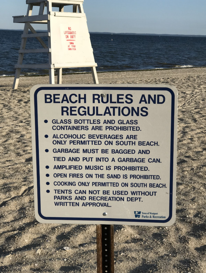 Compo+Beach+enforces+new+policies+limiting+beach+activities