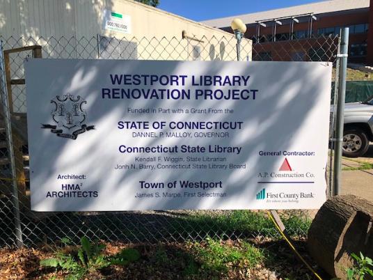 Westport Public Library continues renovations