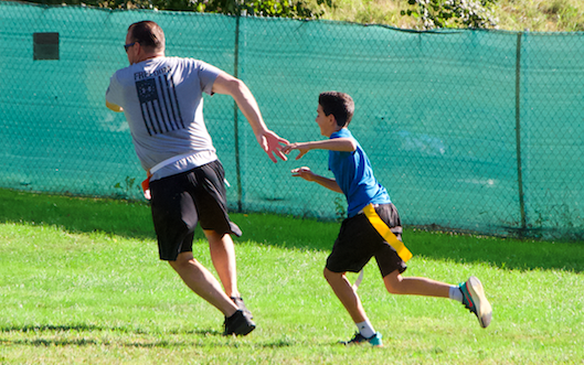 Westport Police play capture the flag with middle schoolers