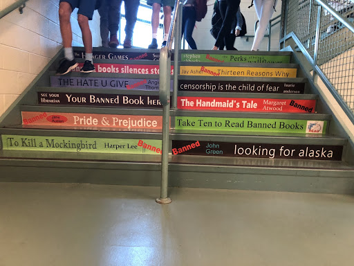 Staples Library promotes 'banned books' in light of National Banned Book Week
