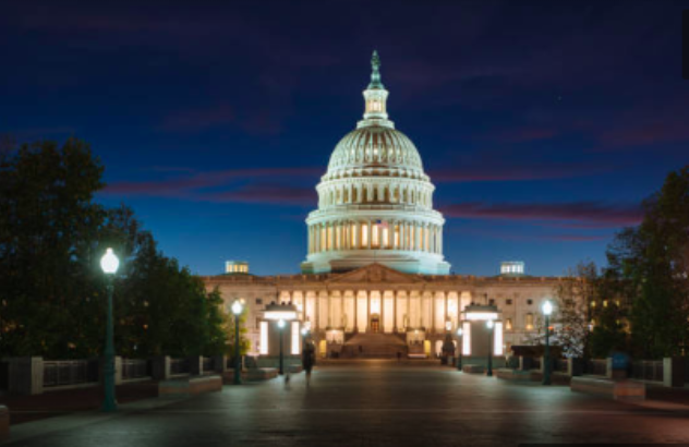 The U.S. Capitol shines at night, housing both the Senate chambers and House of Representatives chambers. President Trump will give his State of the Union Address from the House of Representatives chamber on Feb. 5 at 9:00pm EST. | Photo from Getty Images