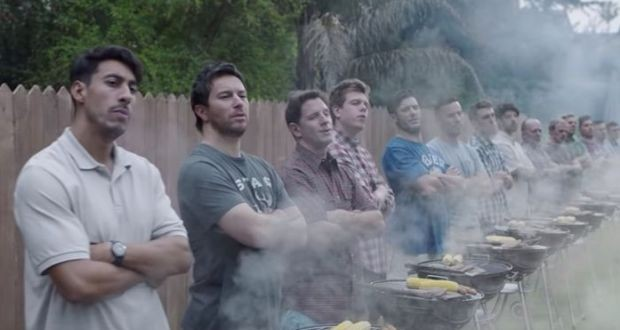 "One of the most impactful scenes in the commercial, dads are shown chanting ""boys will be boys"" as they are watching their sons take part in destructive behavior, highlighting the societal standards that make violence seem acceptable."