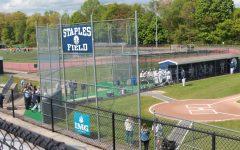 Baseball players slide into senior day