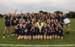 The varsity girls' soccer team won many state and FCIAC championships throughout the past several years. The trophies won at these games will be housed in the new female only trophy case.